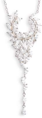 Nina Fern Cubic Zirconia Y-Necklace