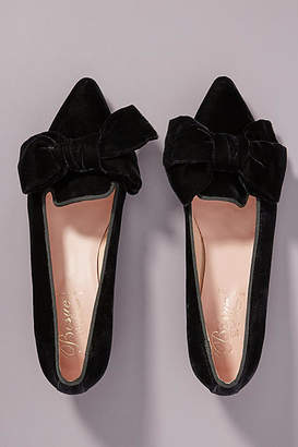 Bisue Ballerinas Velvet Bow Heels