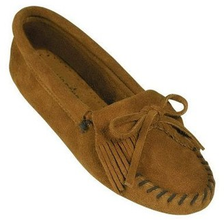 Minnetonka Suede Leather Moccasins - Kilty Softsole