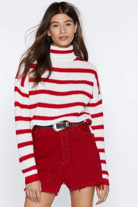 Nasty Gal Straight From the Heart Turtleneck Sweater
