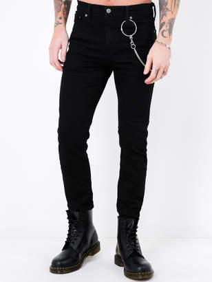 Levi's 510 Skinny Fit Jeans in Nightshine Black Denim