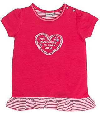 Salt&Pepper Salt and Pepper Baby Girls' B Love Uni Rüschen T-Shirt