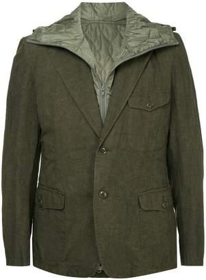 Yohji Yamamoto padded detailed layered blazer