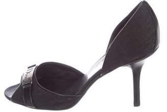 Christian Dior Diorissimo Peep-Toe Pumps