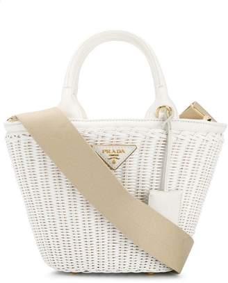 Prada Middolino straw bucket bag