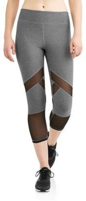 N.y.l. Sport N.Y.L. Sport Women's Active Spliced Mesh Performance Capri Legging