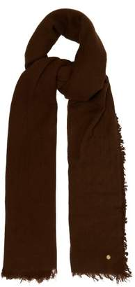 Ann Demeulemeester Frayed Edge Cashmere Scarf - Womens - Brown