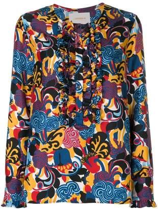 La Doublej zoo print henley blouse