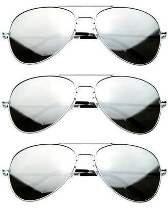 Zerouv Premium Mirrored Aviator Top Gun Sunglasses w/ Spring Loaded Temples