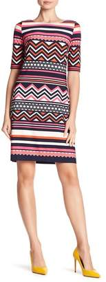 Eliza J 3/4 Sleeve Print Dress