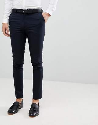 New Look Smart Skinny Trousers In Navy