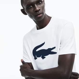 Lacoste Men's Crew Neck Oversized Crocodile Cotton Jersey T-shirt