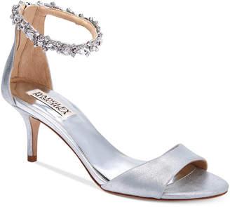 Badgley Mischka Geranium Ankle-Strap Evening Sandals
