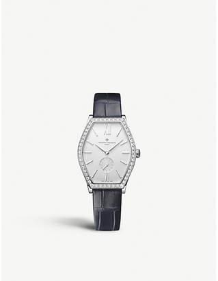 Vacheron Constantin 81515/000G-9891 Malte 18ct white gold, diamond and leather