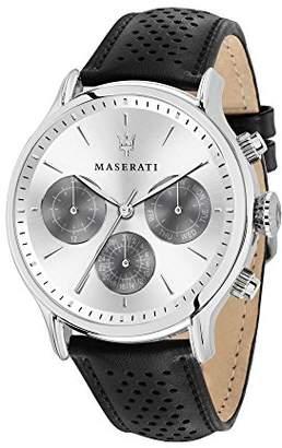 Epoca Maserati Men's 'Epoca' Quartz Stainless Steel and Leather Fashion Watch
