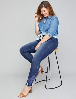 Lane Bryant Super Soft Super Stretch Skinny Jean -Lace Applique