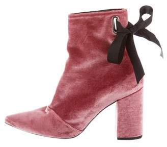 Robert Clergerie Clergerie Paris Velvet Ankle Boots