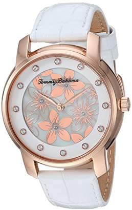Tommy Bahama Women's Quartz Stainless Steel and Leather Casual Watch