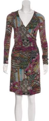 Etro Printed Long Sleeve Knit Dress