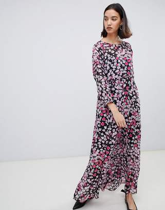 Selected Floral Print Maxi Dress