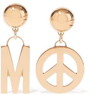 Moschino Gold-Tone Clip Earrings
