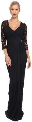 Adrianna Papell Lace Raglan Gown Women's Dress