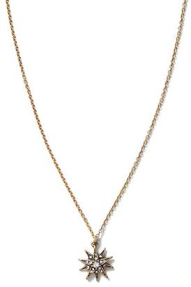 Crystal Starburst Pendant Necklace $38 thestylecure.com