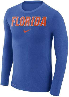 Nike Men's Florida Gators Marled Long-Sleeve Dri-FIT Tee