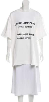Longchamp Oversize Logo T-Shirt