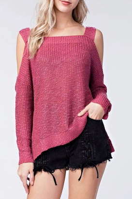 Honey Punch Open Shoulder Sweater