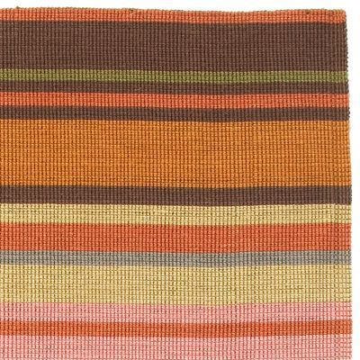 Multi-Color Stripe Jute Rug