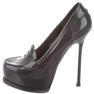 Saint Laurent Patent Leather Platform Pumps