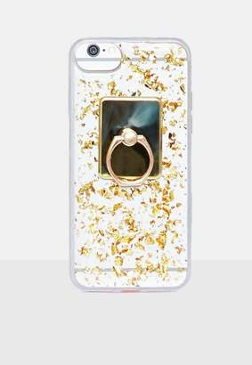 Missguided Gold Sequin Knocker Iphone Case