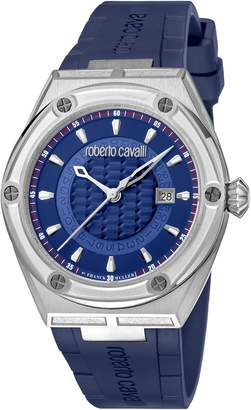 Roberto Cavalli by Franck Muller Scala Automatic Rubber Strap Watch, 45mm