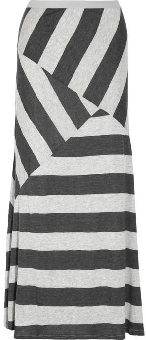 Tart Striped stretch-jersey maxi skirt