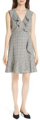 Kate Spade mod plaid fit & flare dress