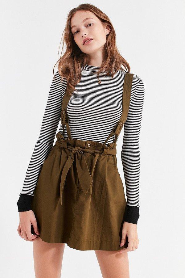 BDG Lizzy Suspender Mini Skirt