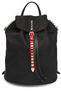 Prada Women's Nylon Backpack with Studding