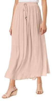 Style&Co. Style & Co. Waist-Tie Solid Maxi Skirt