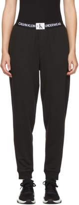 Calvin Klein Underwear (カルバン クライン アンダーウェア) - Calvin Klein Underwear ブラック モノグラム ラウンジ パンツ