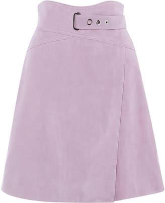 801d2ad92cbd Karen Millen High-Waisted Suede Skirt