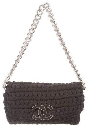 Chanel Fancy Crochet Flap Bag