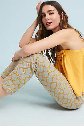 Anthropologie Chino by Relaxed Circle-Embroidered Chino Pants