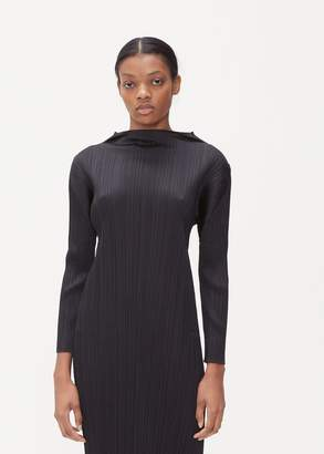 Pleats Please Issey Miyake Long Sleeve Monthly Colors Dress