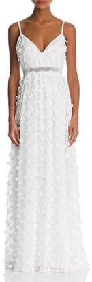 Nicole Miller Floral-Appliqué Gown