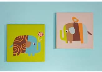 Zutano Elephants 2-pk. Wall Art