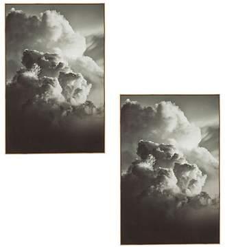 Amalfi by Rangoni Dark Clouds Framed Wall Art (Set of 2)