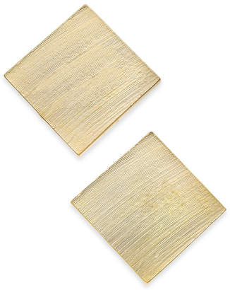 INC International Concepts I.n.c Gold-Tone Square Stud Earrings, Created for Macy's