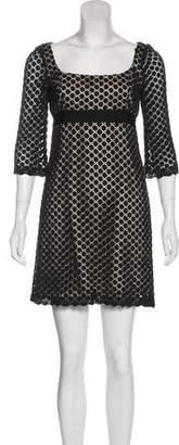 Milly Crochet Mini Dress