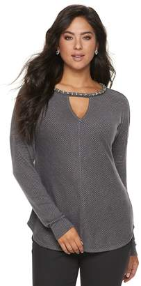 JLO by Jennifer Lopez Women's Cutout Dolman Top
